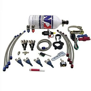 Motorcycle Nitrous Wet Kit 4 Cylinder Piranha 60005p With No Bottle