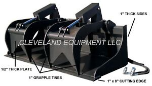 New 72 Severe duty Grapple Bucket Attachment Bobcat Skid Steer Track Loader 6