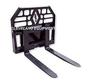 New 36 Blue Diamond Mini Pallet Forks Frame Attachment Bobcat Mini Skid Steer