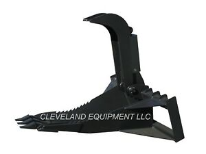New 62 Xl Stump Grapple Bucket Attachment For Bobcat Skidsteer Track Loader