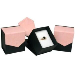 Magnetic Ring Box Pink black 144 Pc Lot Wholesale Liquidation