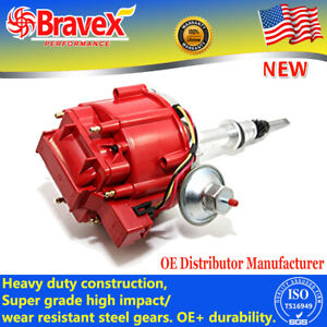 Hei Distributor For Chevy Gm Small Block Big Block 65k High Performance Red Cap