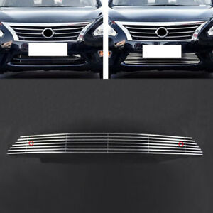 For Nissan Teana Altima 2013 15 Front Bumper Metal Horizontal Grid Grill Grille