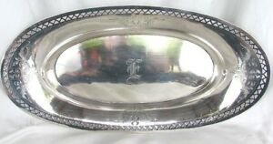 Antique Sterling Celery Tray Alvin Silver Co C 1920