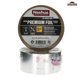 2 Nashua Aluminum Foil Tape 2 5 X 60 Yards New Ships Fast