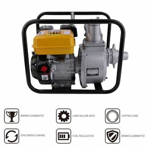 Gas Powered Water Pump Flood Irrigation Portable 7 Hp 3 2 Transfer Minute E