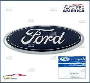 New Oem 07 2014 Ford Edge Flex Taurus X Front Grille Blue Oval Emblem Bt4z8213a