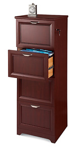 Realspace Magellan Collection 4 drawer Vertical File Cabinet Cherry 547722