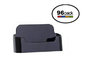 Black Acrylic Business Card Holder Displays Wholesale Lot Of 96
