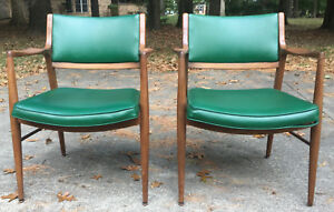 Mid Century Office Chairs By Imperial Desk Company Walnut Finish 7410