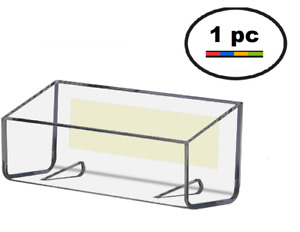One Clear Acrylic Plastic Peel Stick Wall Mount Business Card Holder Display