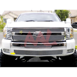 Aal For 2007 2012 Chevy Silverado 1500 Bumper Billet Grille Insert