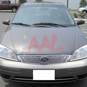 Aal For 2005 2006 2007 Ford Focus Upper Billet Grille Insert with Logo Cut out