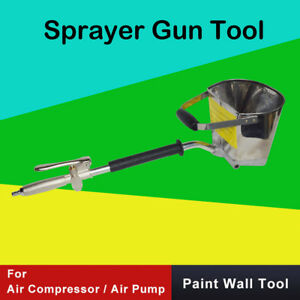 4 Jet Cement Mortar Spray Gun Sprayer Hopper Concrete Stucco Paint Wall Tool Oz
