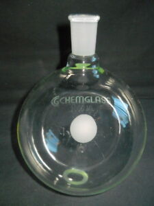 Chemglass 24 40 Joint 2000ml 2l Heavy Wall Round Bottom Flask