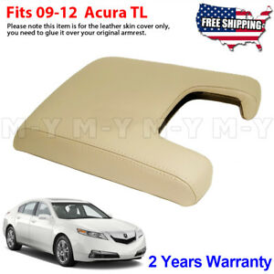 Fits 2009 2012 Acura Tl Leather Center Console Lid Armrest Cover Skin Beige Tan