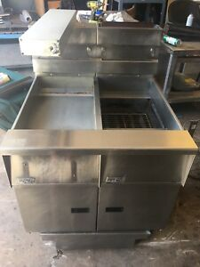 Pitco Single Fryer With Dump Station And Oil Filtration System Sg14s