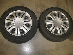 2 Honda Steel Wheels With Tires And Hubcups 175 65r15