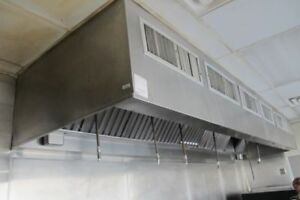 12ft Vent Hood With Ansul System And 1 Fan