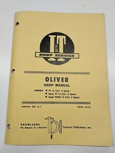 Oliver Shop Service Manual I t Series Tractor 99 6 Cyl Super 99 4 6 Speed O 7