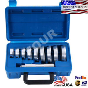 10 Pcs Axle Bushing Bearing Race Seal Install Driver Aluminum Tool Set