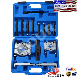 14 Pcs Bearing Separator Puller Set 2 And 3 Splitters Remove Bearings Kit