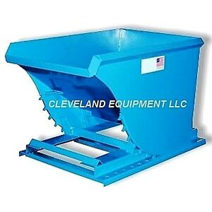 New 1 Cubic Yard Self Dumping Hopper Forklift Dumpster Attachment