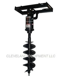 New Premier Md18 Hydraulic Auger Drive Attachment Caterpillar Skid Steer Loader