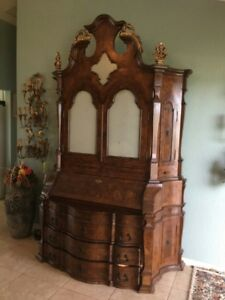 Large Antique Italian 2 Door Armoire Wardrobe Cabinet Moving Sale
