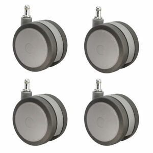 4 Extra Large Heavy Duty Office Chair Casters Hardwood Safe Gray Set Of 4