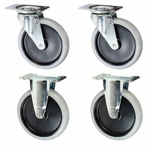 Rubbermaid Cart Casters 5 Non marking Wheels 4400 4500 Series Set Of 4