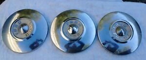 3 Vintage 1957 1958 1959 Ford Dogdish Hubcaps 10 1 2