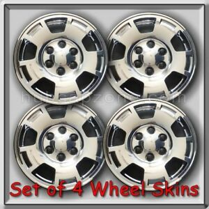2010 2011 Chevy Chevrolet Avalanche Wheel Skins Chrome Hubcaps 17 Wheel Covers