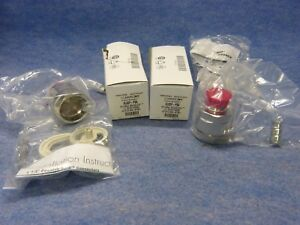 Lot Of 2 Andrew 1 1 4 Positive Stop Connector Al6df psa For Heliax Coaxial