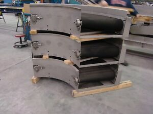 Stainless Steel Belt Conveyors Inclines Curves Horizontal Stainless Panels