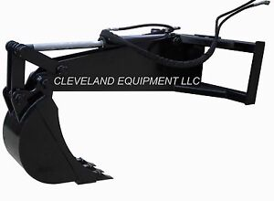 New Stiff Arm Backhoe Attachment W 12 Tooth Bucket Skid Steer Loader Excavator