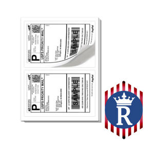 Paypal Shipping Labels 2 Per Page 8 5x5 5 Best Quality