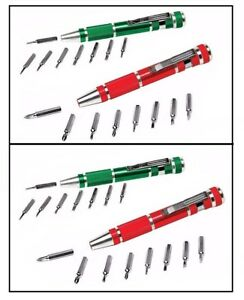 Pocket Pen Screwdriver Magnetic 4 Pack New