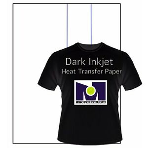 Inkjet Opaque Heat Transfer Paper For Dark Fabrics blue Line 50pk