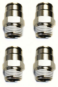 4 Air Suspension System Fittings 3 8 Npt Male To 1 2 Air Hose Push In