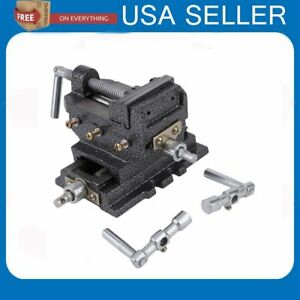 2017 Us 3 Cross Drill Press X y Clamp Machine Vise Metal Milling Slide 2 Way Se