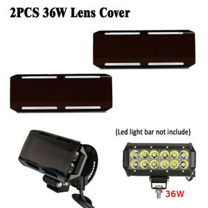 2x Snap On Brown Black Lens Cover For 7inch 36w 12 72w Cree Led Light Bar 144w