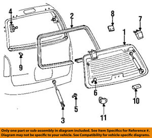 Mercury Ford Oem 93 98 Villager Liftgate Tailgate hinge Left F3xy12420a77a