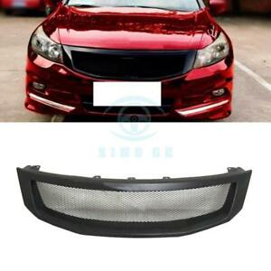 Durable For Honda Accord 2013 Matte Black Resin Front Grille Modified Replace