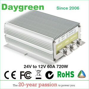 24v To 12v 60a Step Down Dc Dc Converter Voltage Regulator 720w Us Ship