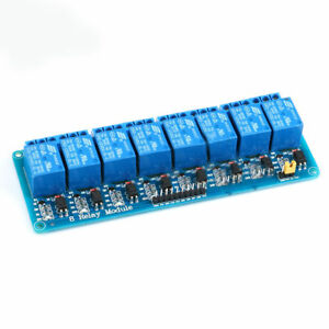 5v 12v 1 8 Channel Relay Module Optocoupler Isolated Low level Trigger 51avr Fz