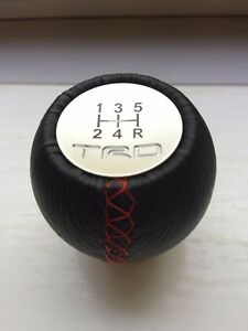 Trd 5 Speed Leather Manual Gear Shift Knob Toyota Lexus Is200 Supra Celica Aygo