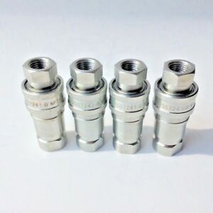 1 4 Npt Iso 7241 1 b Coupling Hydraulic Quick Disconnect Sms 04 bf bm 4 Sets