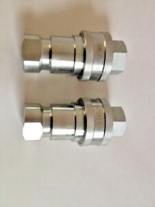 3 4 Npt Iso 7241 1 b Coupling Hydraulic Quick Disconnect Sms 12 bf bm 2 Sets