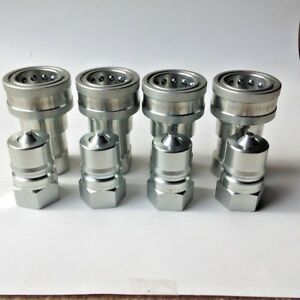 1 Npt Iso 7241 1 b Coupling Hydraulic Quick Disconnect Sms 16 bf bm 4 Sets